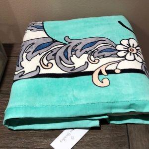 Vera Bradley Beach Towel whale design fan flowers